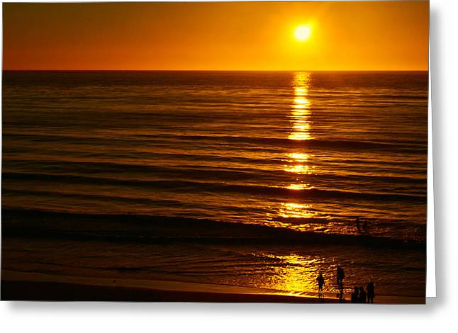 Last Light Greeting Card by Camille Lopez