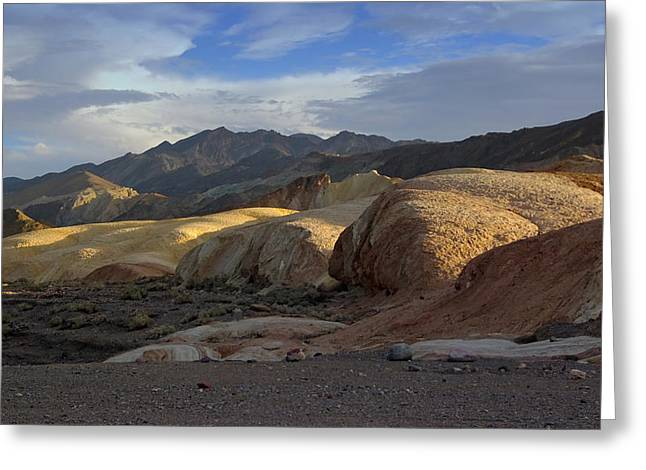 Last Light In Death Valley Greeting Card