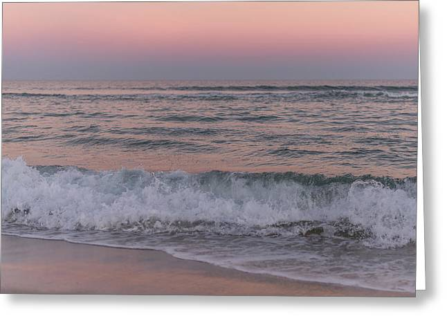 Last Light Of The Day Seaside New Jersey Greeting Card