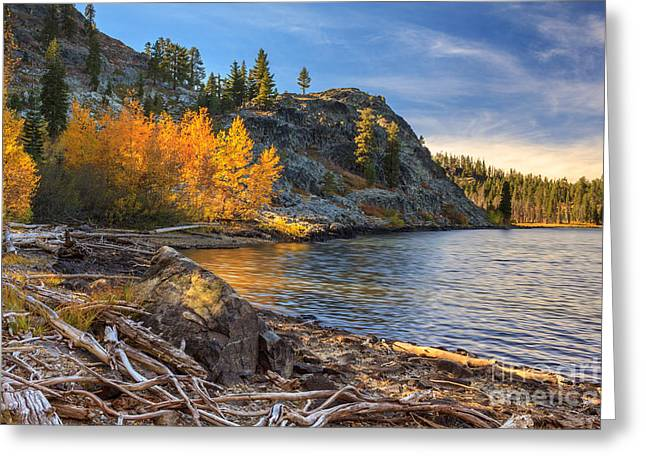 Last Light On Taylor Lake Greeting Card by James Eddy