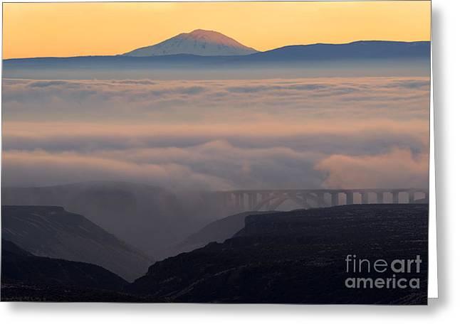 Last Light Over Mt. Adams Greeting Card