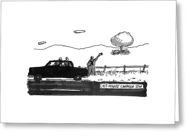 Last-minute Campaign Stop Greeting Card by Michael Crawford