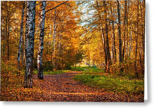 Last Song Of The Autumn Greeting Card by Jenny Rainbow