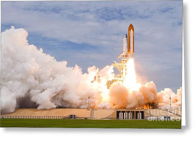 Last Space Shutte Launch - 135 Greeting Card by Chris Cook
