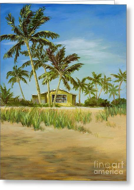 Greeting Card featuring the painting Last Sugar Shack by Vic  Mastis