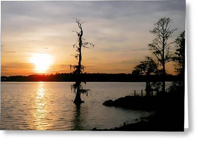 Greeting Card featuring the photograph Last Sunset Of 2012 by Victor Montgomery