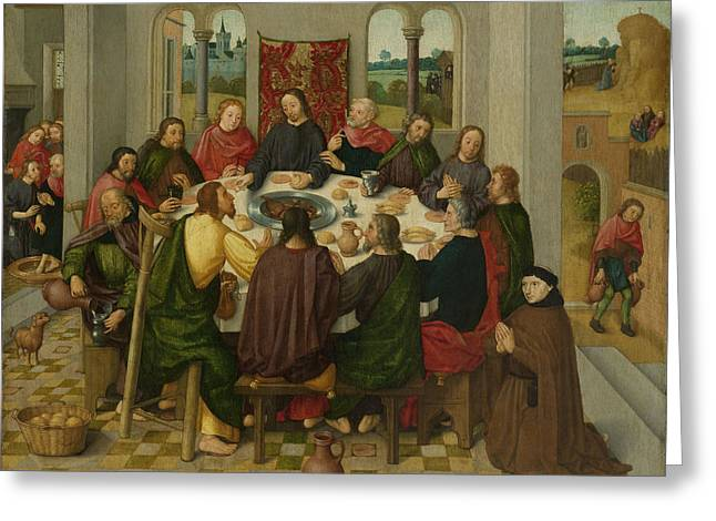 Last Supper, Circle Of Master Of The Amsterdam Death Greeting Card by Litz Collection
