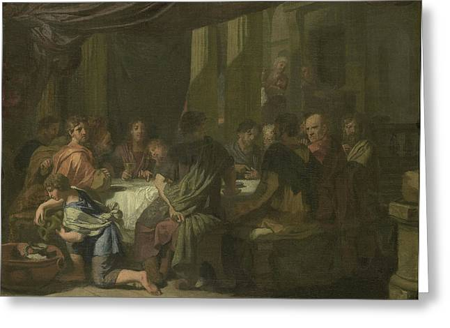 Last Supper, Gerard De Lairesse Greeting Card by Litz Collection