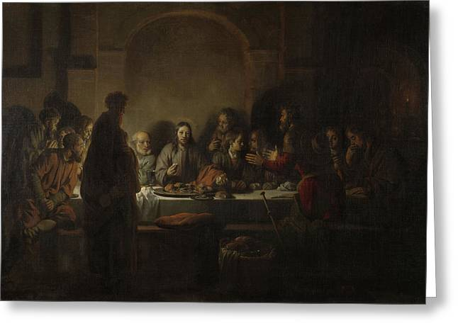 Last Supper, Gerbrand Van Den Eeckhout Greeting Card by Litz Collection