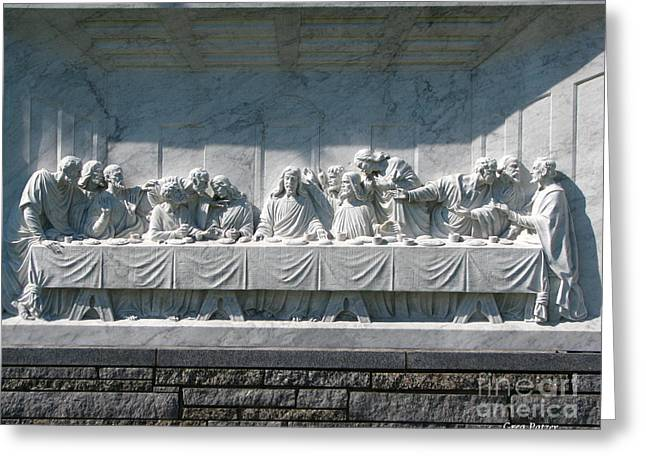 Last Supper Greeting Card by Greg Patzer