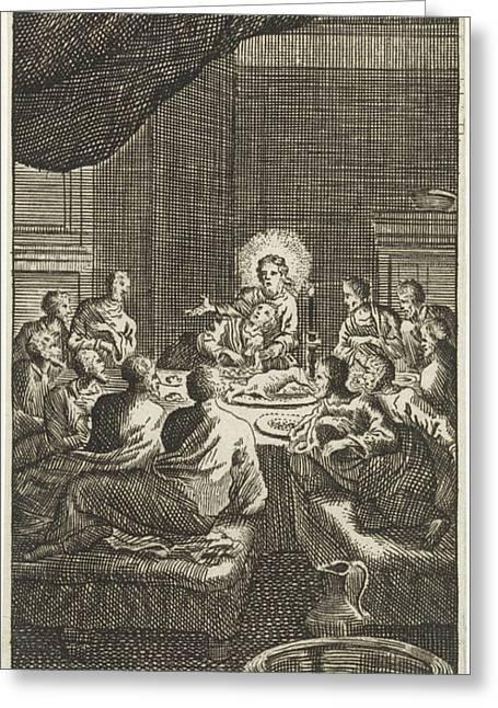 Last Supper, Jan Luyken, Anonymous Greeting Card