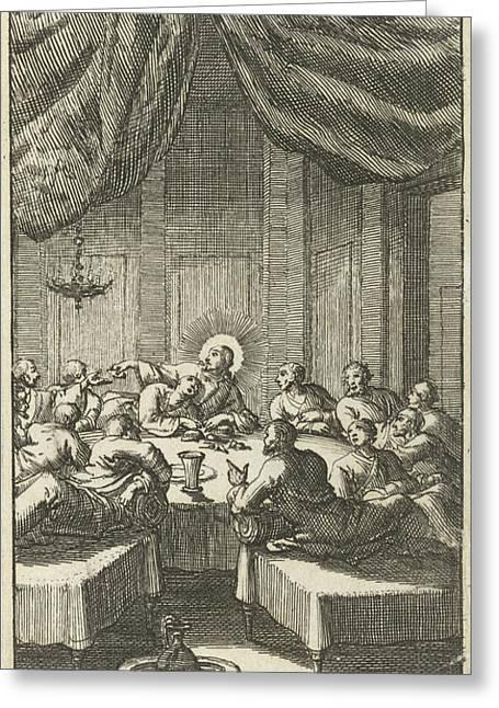 Last Supper, Jan Luyken, Jurriaen Van Poolsum Greeting Card