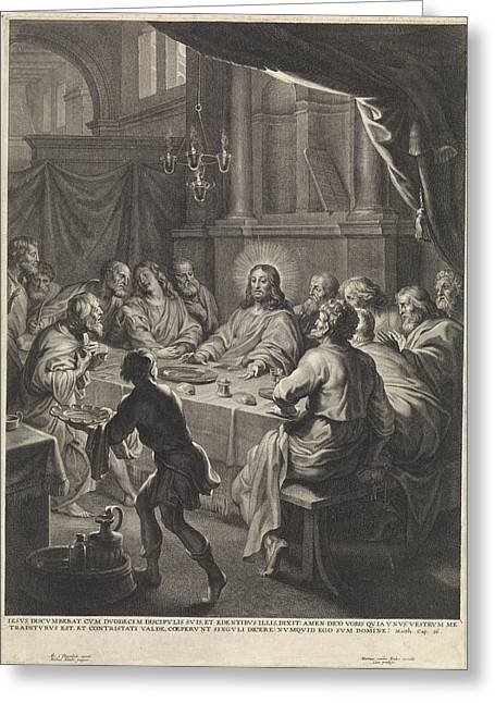 Last Supper, Michel Natalis Greeting Card by Quint Lox