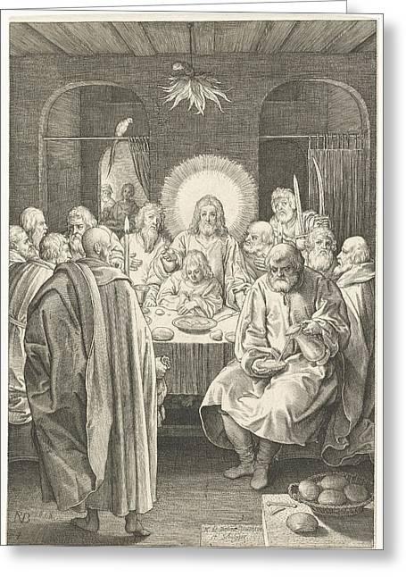 Last Supper, Nicolaes De Bruyn Greeting Card