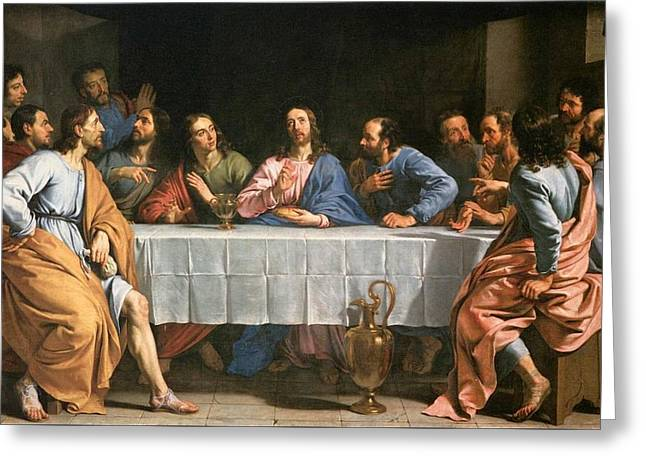 Last Supper  Greeting Card by MotionAge Designs