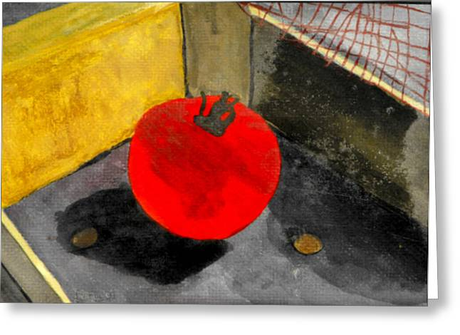Last Tomato Greeting Card by Larry Farris