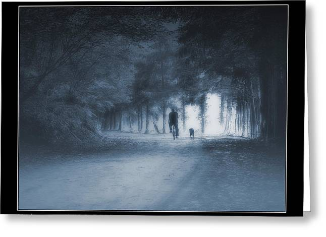 Last Walk With My Old Friend Greeting Card by Pedro L Gili