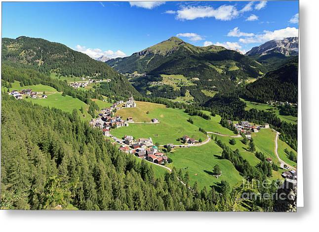 Laste - Val Cordevole Greeting Card by Antonio Scarpi