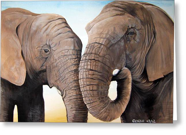 Latabe And Five Greeting Card by Stacey Clarke