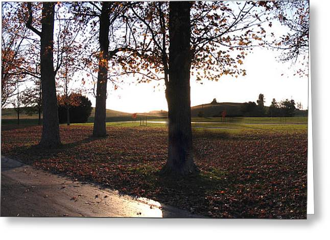 Late Afternoon At Gethsemani Greeting Card by Marian Bell