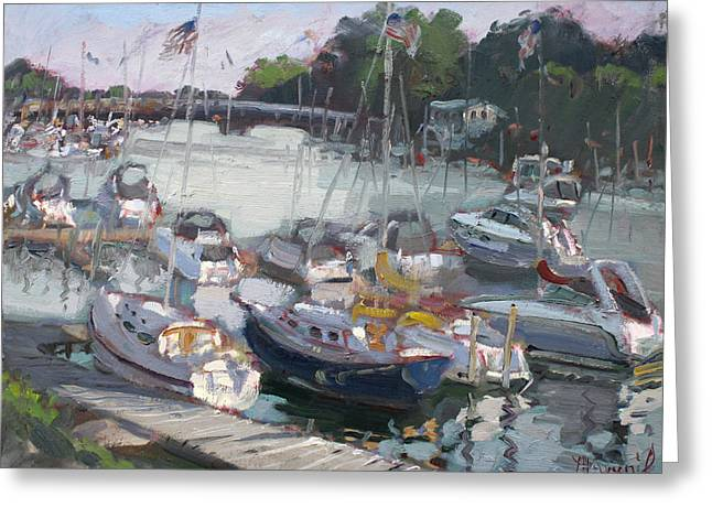 Late Afternoon By Tonawanda Harbor Greeting Card