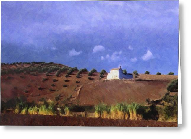 Late Afternoon Cordoba Greeting Card by Spyder Webb
