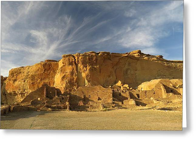 Late Afternoon In Pueblo Bonito Greeting Card by Feva  Fotos