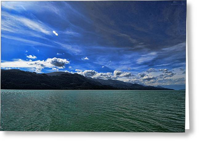 Late Afternoon On Harrison Lake Bc Greeting Card