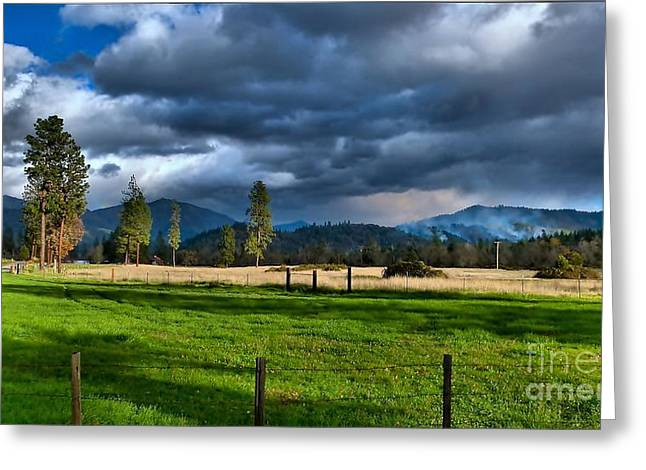 Late Afternoon Weather Greeting Card