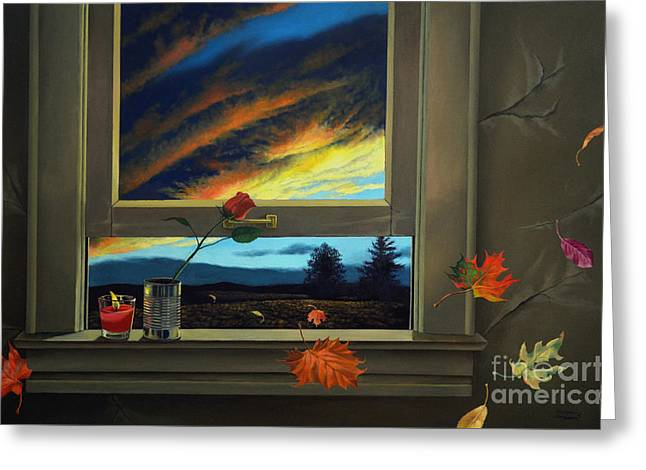 Late Autumn Breeze By Christopher Shellhammer Greeting Card by Christopher Shellhammer