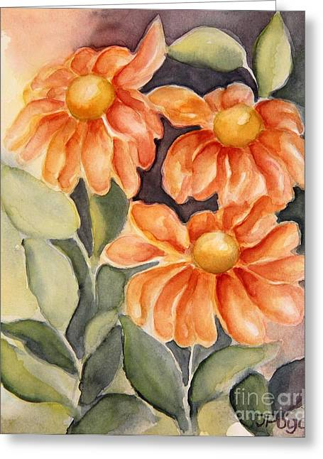 Late Autumn Flowers Greeting Card