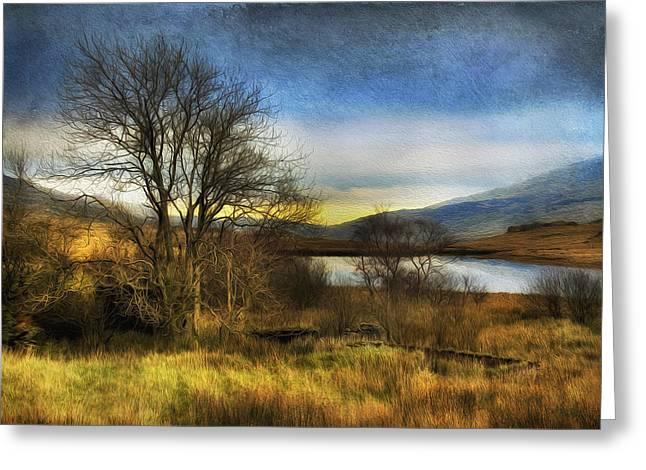 Snowdonia Autumn Lake Greeting Card