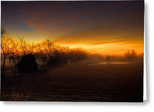 Late Autumn Sunrise Greeting Card