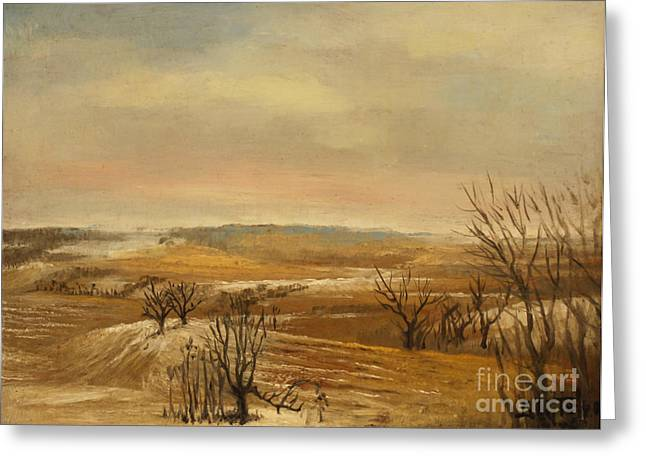 Late Fall In The Midwest Greeting Card by Art By Tolpo Collection