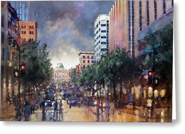Late Friday Afternoon Showers Greeting Card