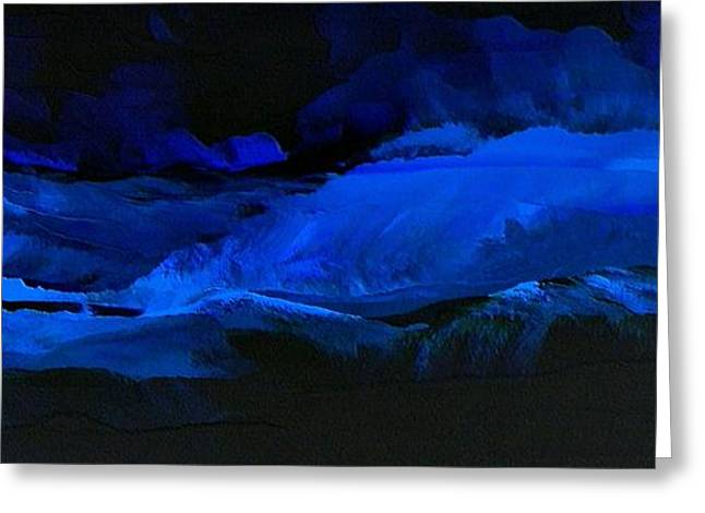 Late Night High Tide Greeting Card by Linda Bailey