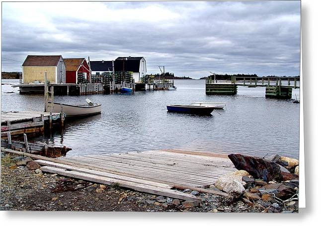 Late October In Blue Rocks Greeting Card by George Cousins
