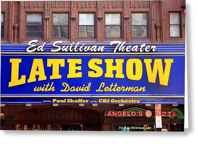 Late Show New York Greeting Card by Valentino Visentini