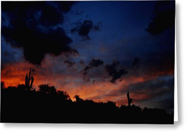 Late Sky Greeting Card by Alfredo Martinez