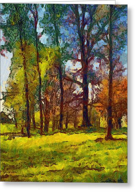 Late Spring Trees Greeting Card