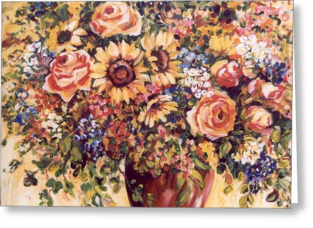 Late Summer Bouquet Greeting Card by Alexandra Maria Ethlyn Cheshire