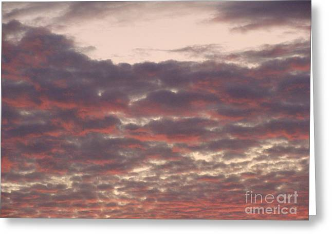 Late Summer Evening Sky Greeting Card