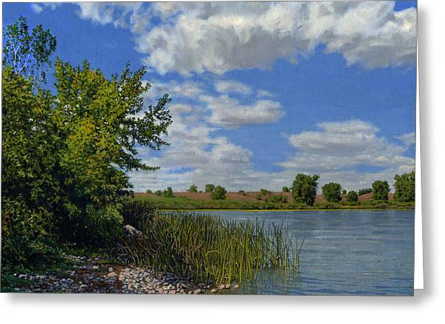 Late Summer On Lower Gar Greeting Card