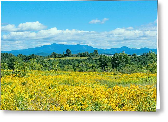 Late Summer View Of Mount Mansfield Vermont Greeting Card