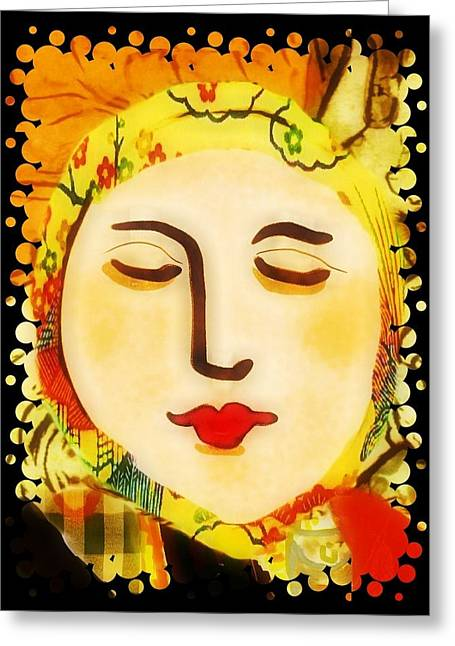 Late Summer Woman Greeting Card
