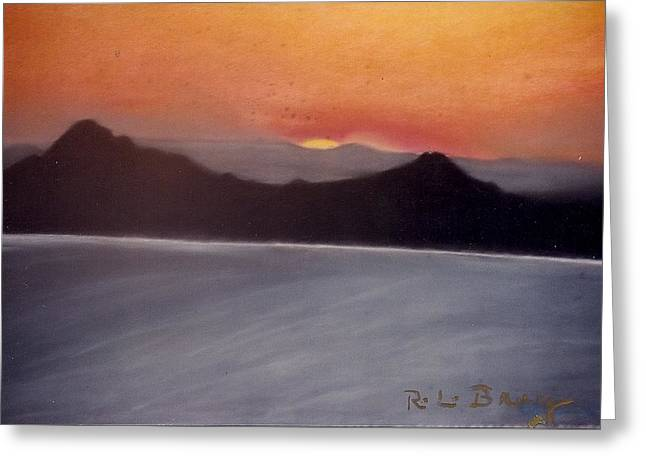 Late Sunset Greeting Card