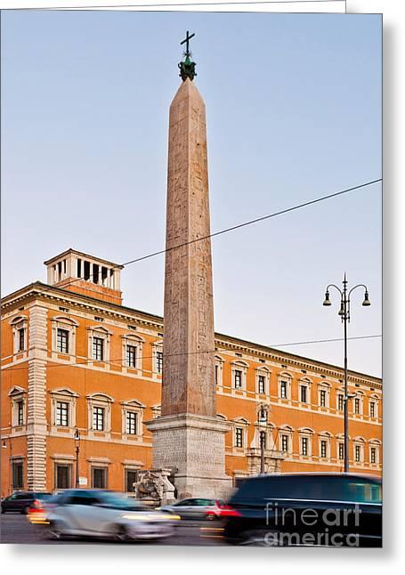 Lateran Obelisk In Rome Greeting Card by Luis Alvarenga