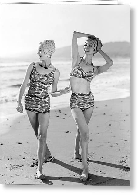 Latest Bathing Suit Fashion Greeting Card by Underwood Archives