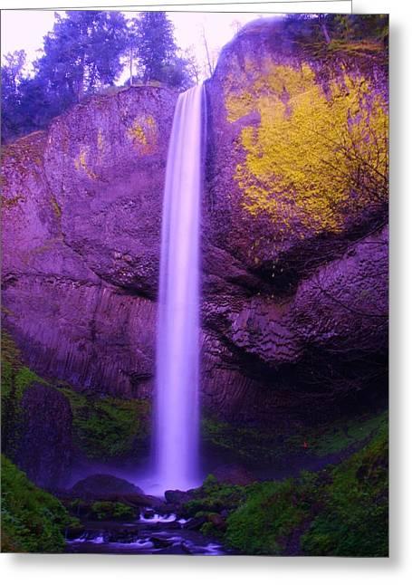 Latourall Falls Greeting Card by Jeff Swan