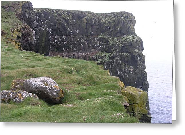 Greeting Card featuring the photograph Latrabjarg by Christian Zesewitz